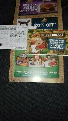 2 Tickets For Chessington World Of Adventures 12Th July Friday 12 Am