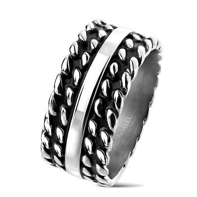 Tapsi ´S ´S Coolbodyart®| Finger Band Ring Stainless Steel Silver Black Polished