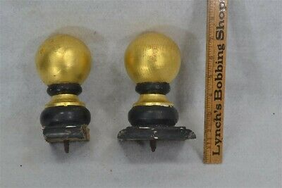 antique ball finials post toppers old wooden painted original 1800s