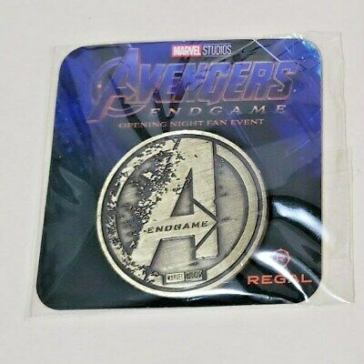Avengers Endgame (2019) Opening Night Fan Event Promo Coin (Gold)