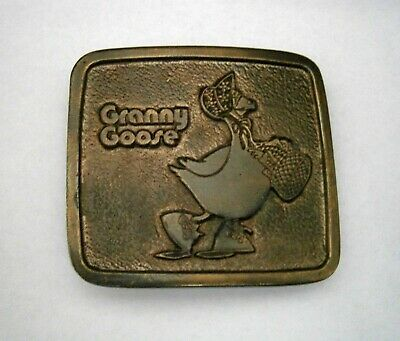 GRANNY GOOSE - Potato Chips - WYOMING STUDIO ART WORKS - BELT BUCKLE