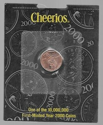 2000 Cheerios Millennium Lincoln Penny -sealed- with Certificate of Authenticity