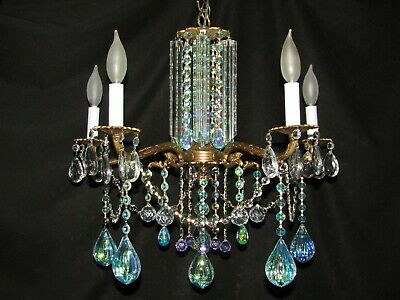 Aurora Borealis Antique Chandeliers Vintage Brass Chandeliers Murano Venini Cry