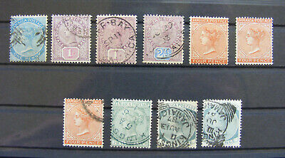(A10) 10 Old stamps from British colony - Jamaica