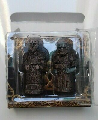 """God of War Collectors Edition 2"""" Carved Huldra Brothers Statues Brok and Sindri"""