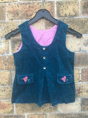 Genuine 70S Mothercare Cord Embroidered Tunic Top Age 4 5 6