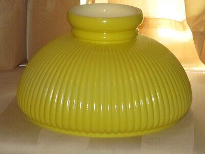10 Inch fitter Yellow Swirl Chandelier Milk Glass Oil Lamp Shade  Aladdin