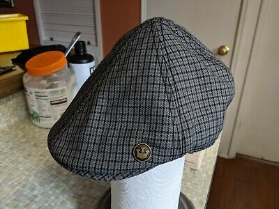 d2798a95 GOORIN BROS HAT Cabbie Driving Military NY Cadet Cap Plaid Size XS ...