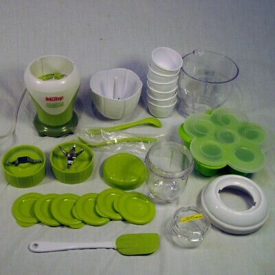 Nuby Garden Fresh 22 Piece Baby Food Maker Set Mighty Blender COMPLETE