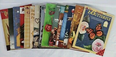 Tole Painting Books Lot of 15 Christmas Halloween Country Folk Art