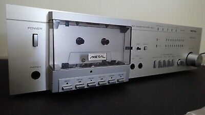 Rotel RD-550 vintage cassette deck. Great condition. Fully serviced. Plays Metal