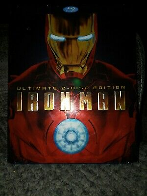 Iron Man (Blu-ray Disc, 2008, 2-Disc Set, Ultimate Edition) w/ Slipcover