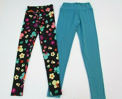LuLaRoe Girls Tween Disney Minnie Mouse Teal Leggings DC1