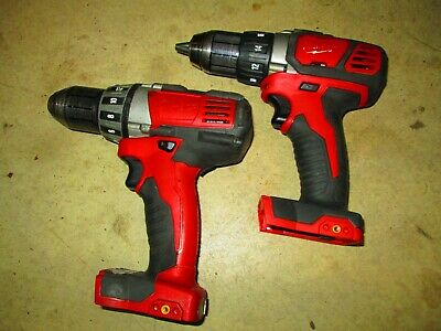 """Milwaukee M18 2606-20 and 2601-20 Cordless Compact Drill 1/2"""" Driver 18 Volt"""