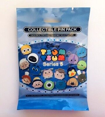 New Disney Tsum Tsum Mystery Pin Pack Series 5