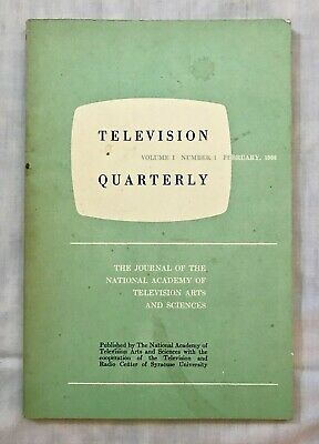 RARE FIRST ISSUE Television Quarterly Vol I No 1 1962  TV Industry Journal 1st