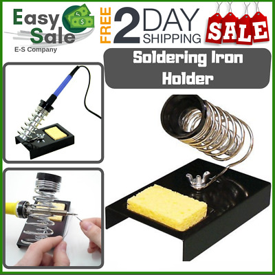 Ess Soldering Iron Stand Holder Cleaning Sponge Home Shop Repair Electricians