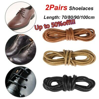 Round Waxed Shoelaces Shoe Laces Cord Leather Dress Shoes Boots Laces Strings ~