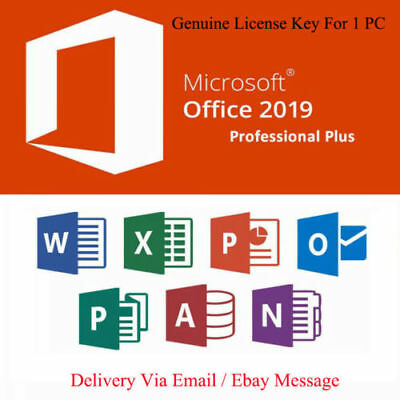 Microsoft Office 2019 Professional Plus License Product Key 32/64 Windows 1PC