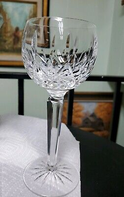 Waterford Lismore Wine Hock Crystal Goblets 7 3/8 Inches