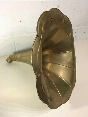 Antique Gramophone Speaker Brass Horn Large 18.5""