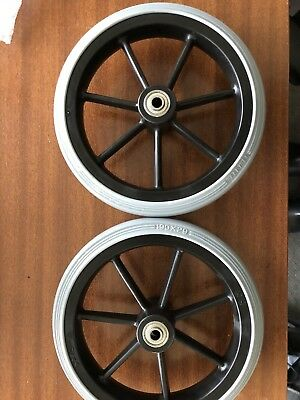 Wheelchair Wheels 190mm X29mm, 60mm Hub 8mm Axle Hole. Thread M14x22MM