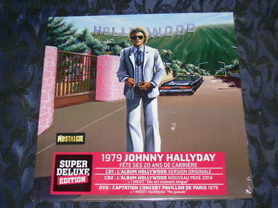 Johnny Hallyday / Coffret Hollywood 1979 Neuf Cello / Livre+2Cd+1Dvd+Inedits