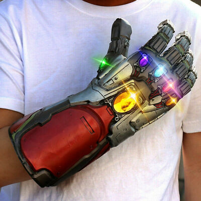 Avengers Endgame Infinity Thanos Gauntlet LED Cosplay Iron Man Gloves Costume