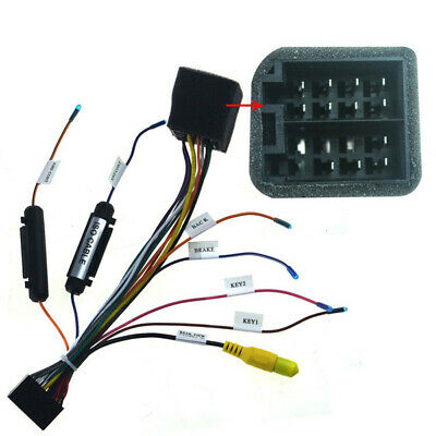 car stereo 20pin iso wiring harness connector adapter+rear view  cameraconnectio
