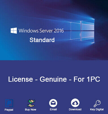 Windows Server 2016 Standard - Lifetime - License Activation Key Genuine