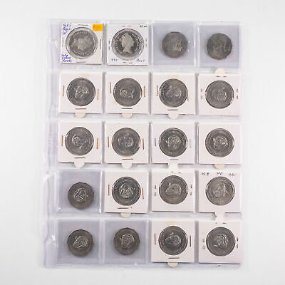 20x UNC - GEM Australian 50c Fifty Cent Coins Mostly 1991 RAM