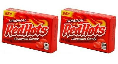 2x Original Red Hots Cinnamon Candy 26g American Sweets
