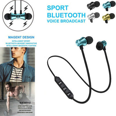 Bluetooth 4.2 Earbuds Headphone Stereo Sport Wireless Magnetic Headset Hot Sale!
