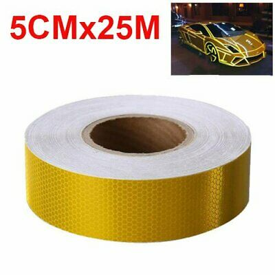 25M Length Reflective Tape Car Safety Warning Stickers Self-Adhesive Reflector