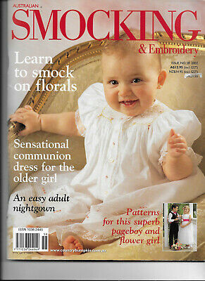 Australian Smocking & Embroidery Iss 58 Pageboy Flower Girl Patterns Florals