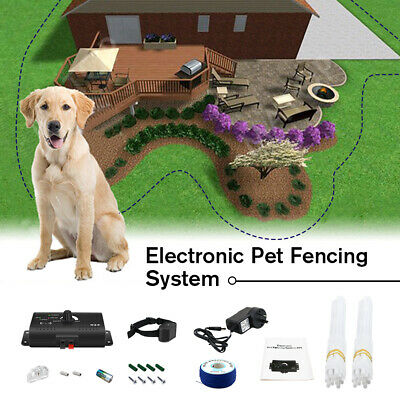 Wireless Dog Pet Electronic Fence Boundary Collar Containment System Underground