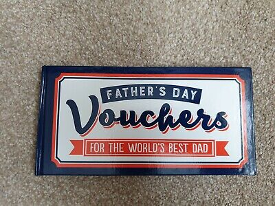 Brand New Fathers Day Super Dad 24 Vouchers Book