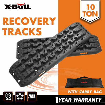 NEW Pair Sand Tracks Recovery Mud Snow Grass Trax Car  Offlrode 4WD 4x4  BLACK