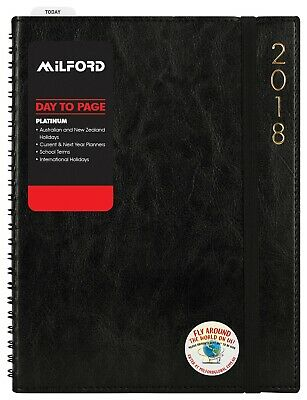 2019/2020 Milford Financial A5 Week to View WTV Black Diary 441508 Free Postage