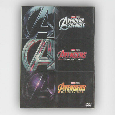 Marvel's The Avengers / Age of Ultron / Infinity War 1 2 3 DVD Box set Brand New