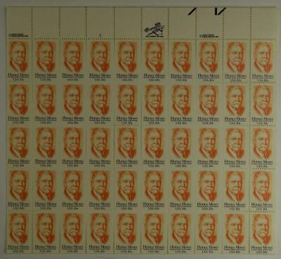 Us Scott 2095 Pane Of 50 Horace Moses Stamps 20 Cent Face Mnh