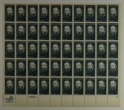 Us Scott 2094 Pane Of 50 Herman Melville Stamps 20 Cent Face Mnh
