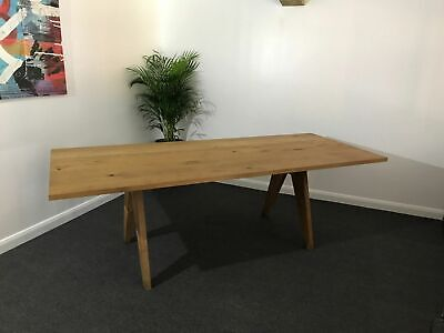 E15 Alden Solid Oak Boardroom / Meeting / Dining Table