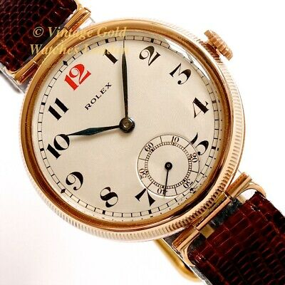 Rolex Officer's Watch, 9Ct Rose Gold, 1926 'Coin Edge' - Immaculate!