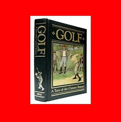 ☆Rare Leather%Bound Gold-Edge Book:golf:a Turn Of The Century Treasury-History!☆