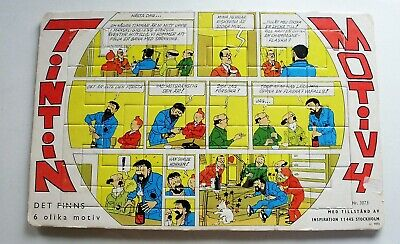 Rare ! TINTIN Puzzle scandinave 1973 complet