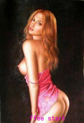 ZOPT944 sexy half naked girl portrait lady hand oil painting art on CANVAS