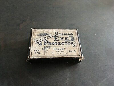 Vintage Eye Protector/Shade Celluloid Patches.  Original Box medical collectable