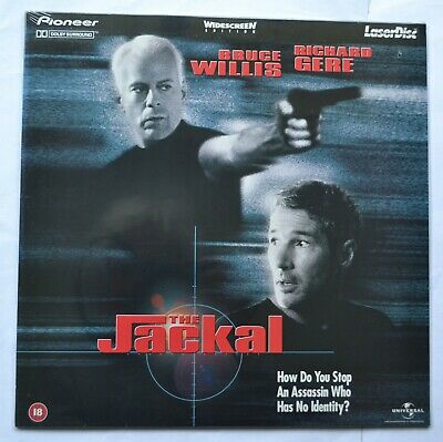 The Jackal (1998) Widescreen PAL Laser Disc. Bruce Willis. (new & sealed)