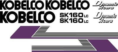 kobelco sk160 lc excavator decal set with dynamic acera decals